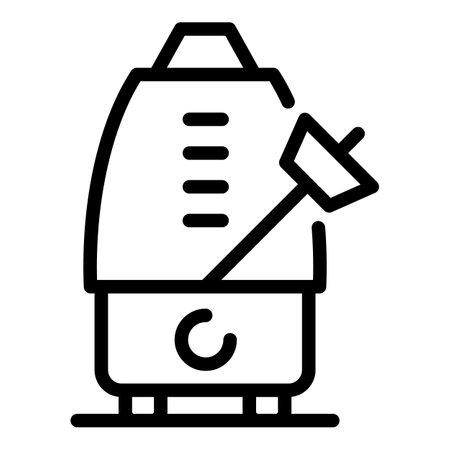 Beat metronome icon, outline style