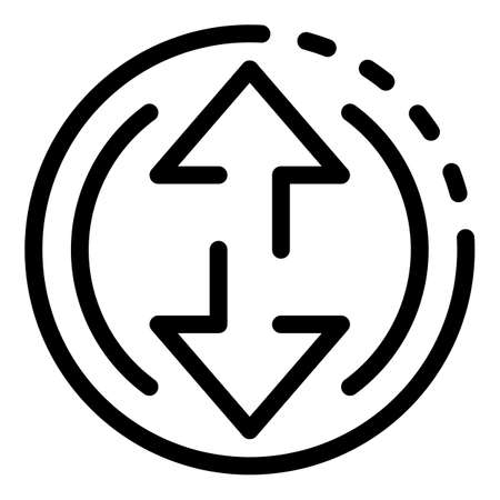 Air ball gravitation icon, outline style