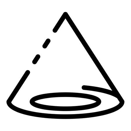 Education school gravity icon, outline style Stock Photo