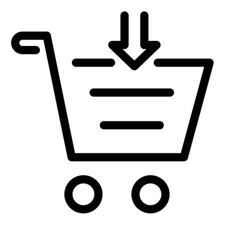 Download shop cart icon, outline style