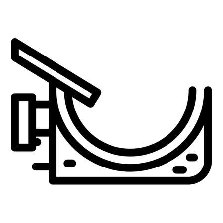 Exterior gutter icon, outline style