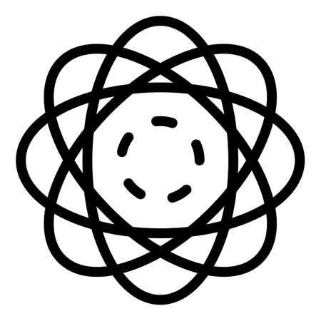Electron motion cloud icon, outline style