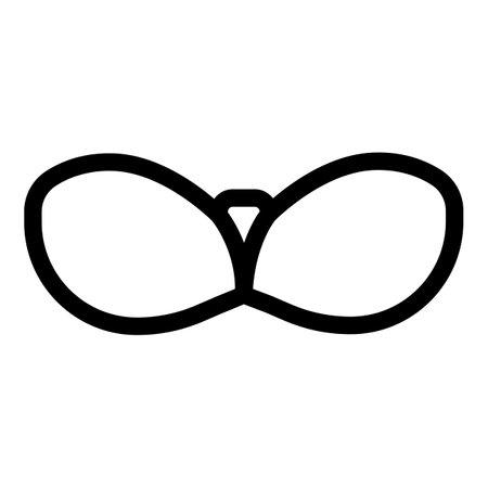 Stick on bra icon, outline style