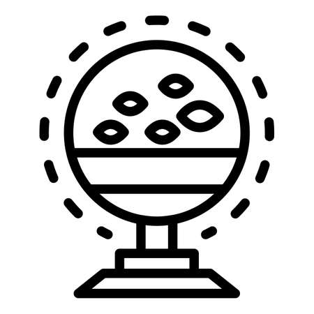 Fish echo sounder icon, outline style