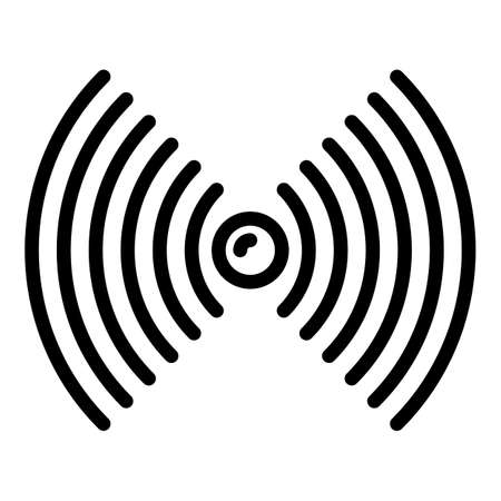 Fishing signal sounder icon, outline style