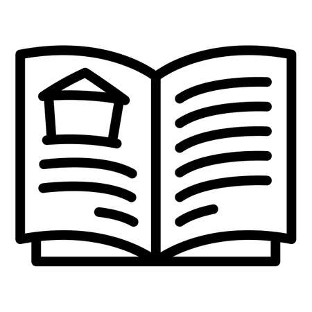 Home construction docs icon, outline style
