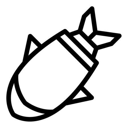 Atomic bomb icon, outline style