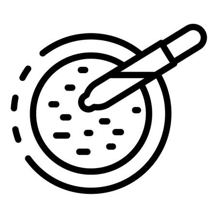 Cells test icon, outline style