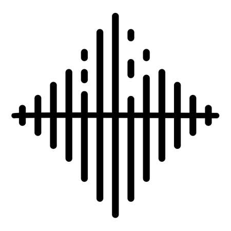 Audio frequence icon, outline style