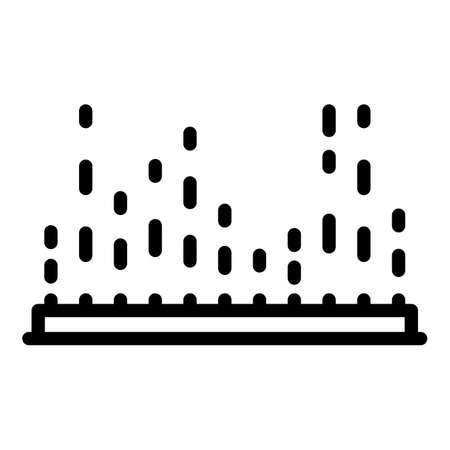Equalizer points icon, outline style