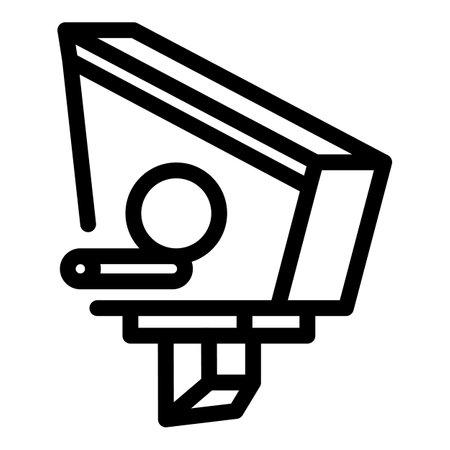Bird house feeder icon, outline style
