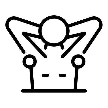 Armpits hair removal icon, outline style