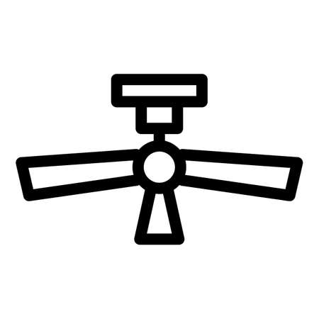 Ceiling fan icon, outline style