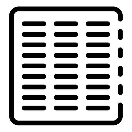 Metal vent cover icon, outline style