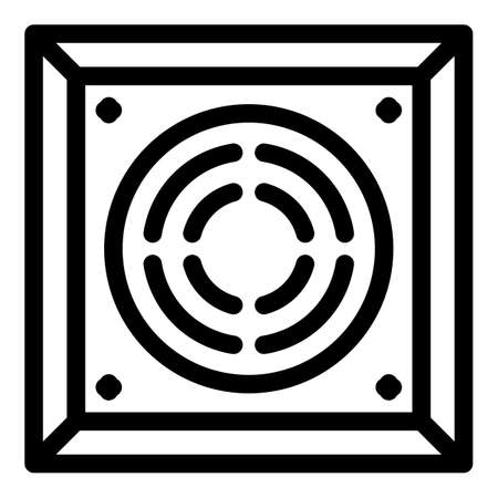 Square ventilation cover icon, outline style