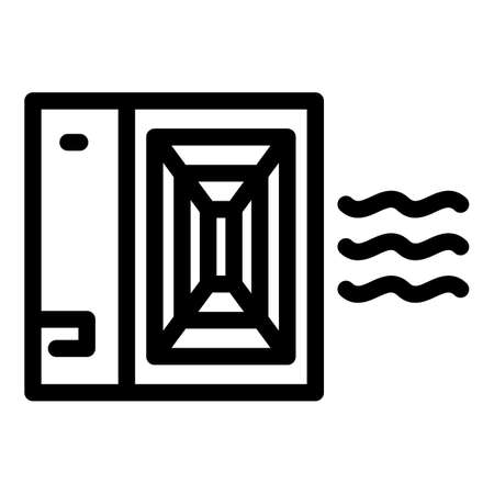 Vent air circulation icon, outline style