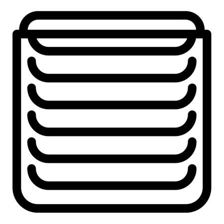 Metal vertical cover icon, outline style