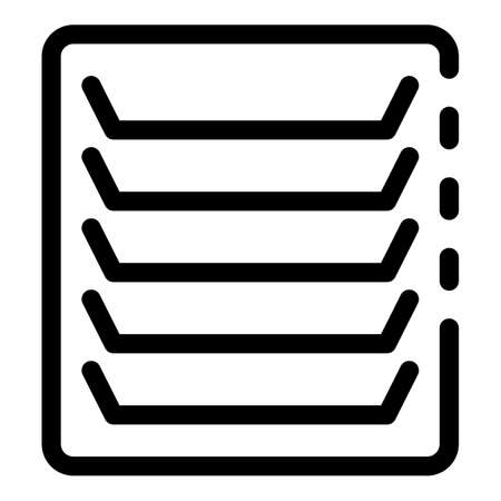 Air duct cover icon, outline style