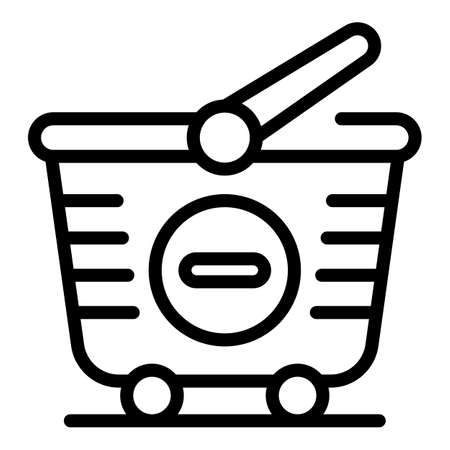 Remove from cart icon, outline style