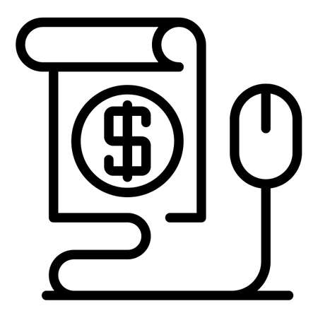 Money offer icon, outline style