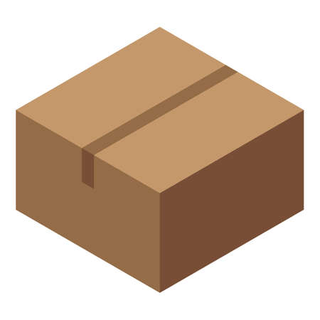 Trade war global parcel icon, isometric style
