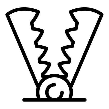 Illegal animal trap icon, outline style