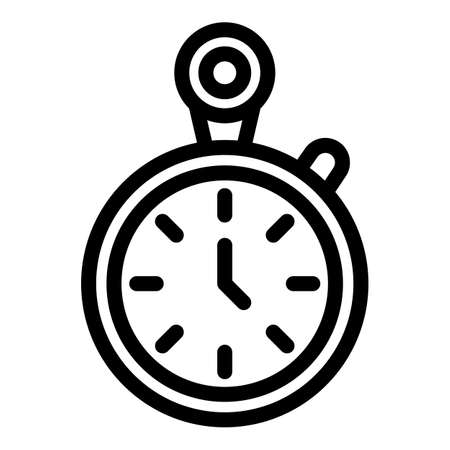 Workout senior stopwatch icon, outline style