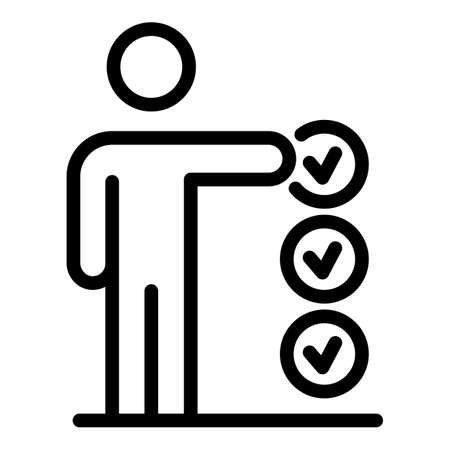 Approved personal trait icon, outline style