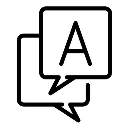 Translate operating system icon, outline style