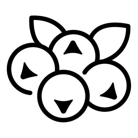 Rowan fruit icon, outline style