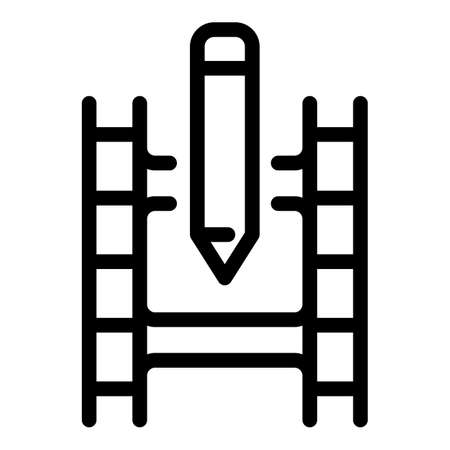 Edit movie icon, outline style