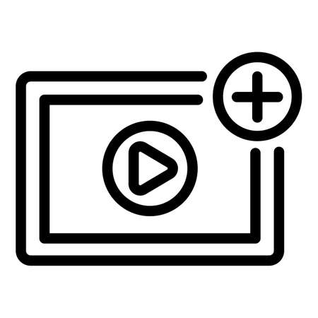 New video icon, outline style