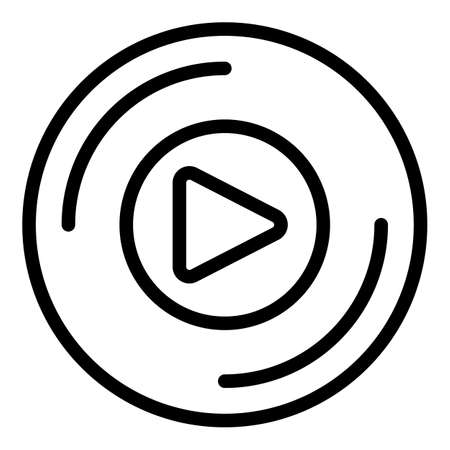 Playlist play icon, outline style