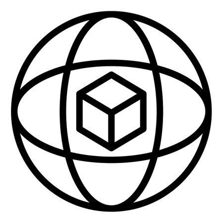 Inertia gyroscope icon, outline style