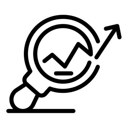 Search standard icon, outline style