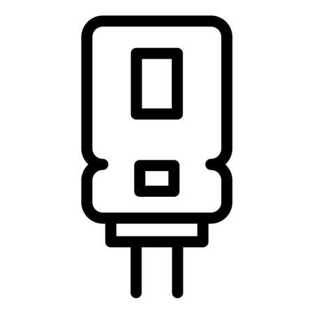 Aluminum capacitor icon, outline style