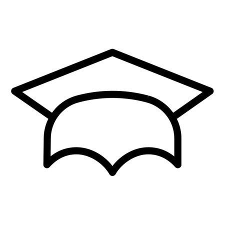 学校毕业帽子图标,大纲样式