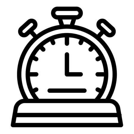 Sport stopwatch icon, outline style 스톡 콘텐츠
