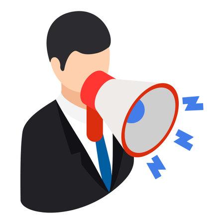Referral marketing icon, isometric style