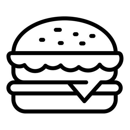 Hamburger icon, outline style