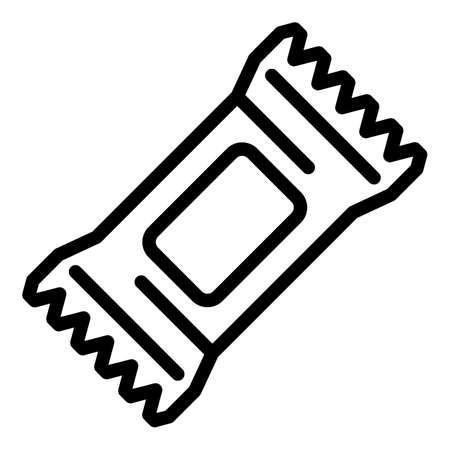 Energy bar icon, outline style