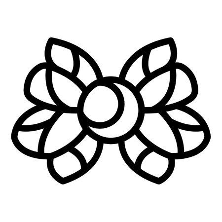 Religion moon emblem icon, outline style Stock Photo