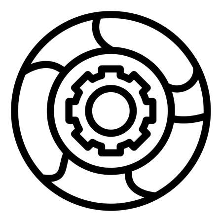 Adaptation mechanism icon, outline style