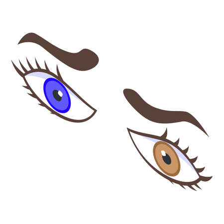 Emotional eyes icon, isometric style