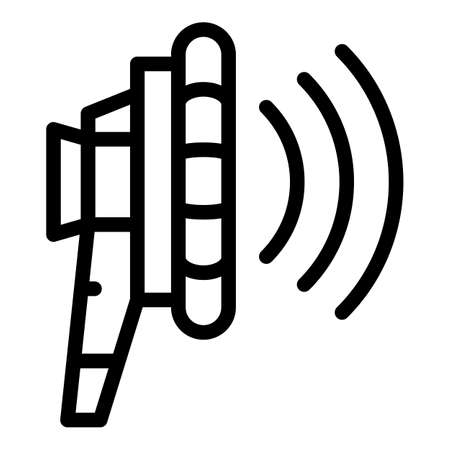 Radio agitation icon, outline style