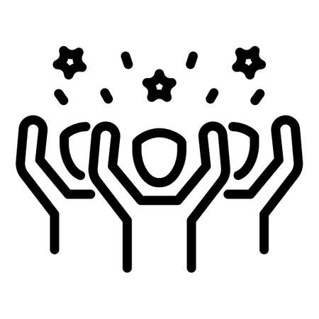 Street people agitation icon, outline style
