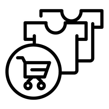 Add item cart icon, outline style Stock Photo