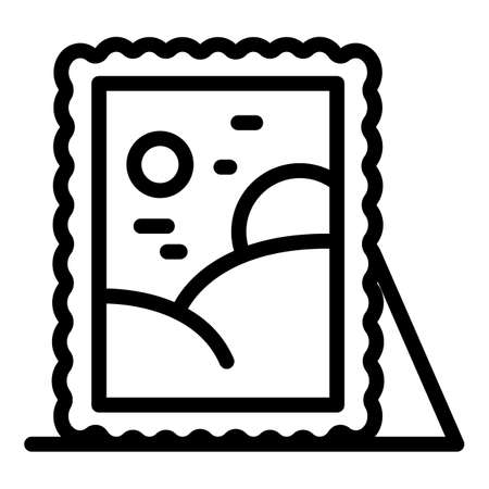 Auction painting icon, outline style