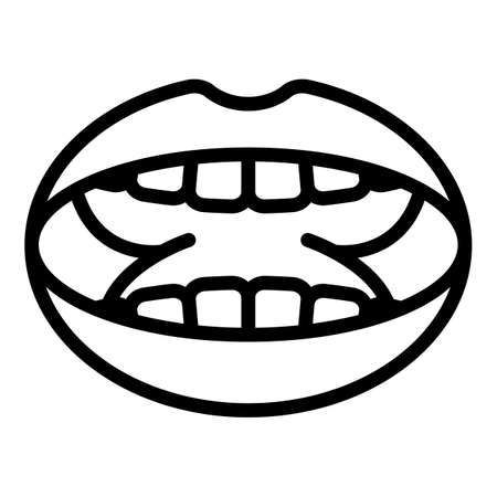System tonsillitis icon, outline style