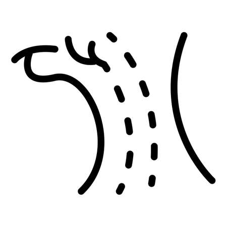 Tonsillitis infection icon, outline style 版權商用圖片